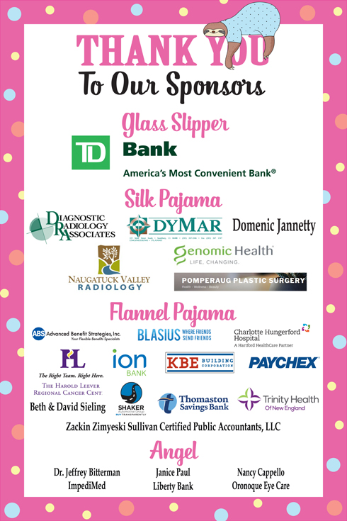 Pajama Party 2018-Thank You To Sponsors