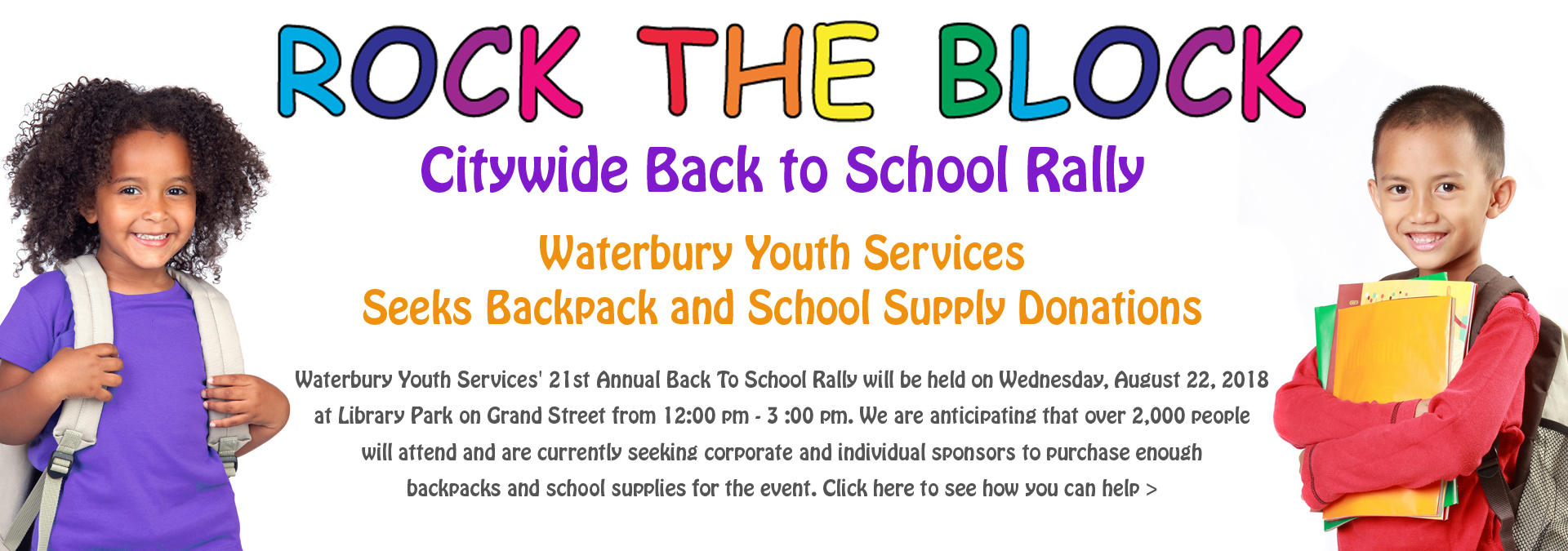 Back To School 2018-Backpack And Supplies Drive